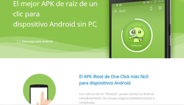 iRoot app para rootear Android