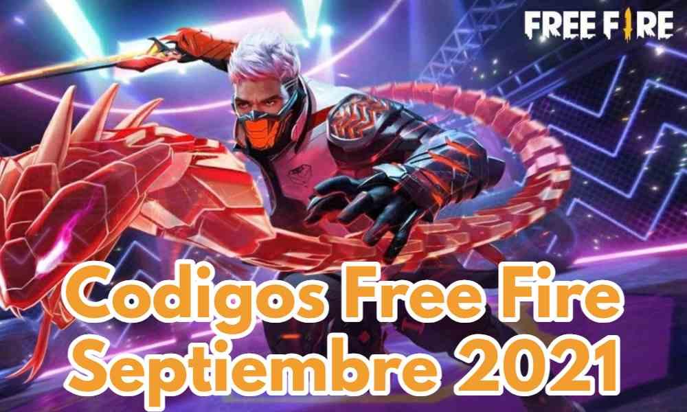 Codigos Free Fire septiembre 2021