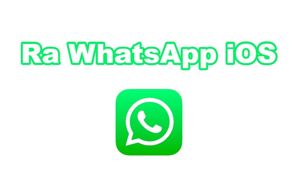 Ra WhatsApp iOS